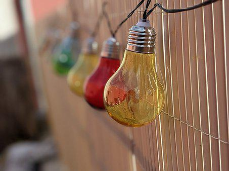 Grill, Barbecue, Birthday, Light Bulb, Pear, Fence
