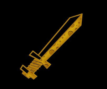 Sword, Blade, Cheese, Yellow, Sharp, Weapon, Abstract