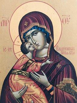 Icon, The Virgin, Savior, Christ, Religion