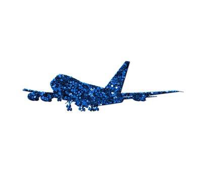 Airplane, Aircraft, Blue, Glitter, Plane, Flight