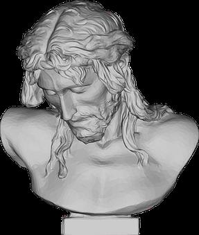 Jesus, Bust, Statue, 3d, Christ, Divine, God, Holy