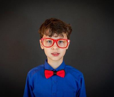 Glasses, Child, Boy, Portrait, Kid, Young, Eyeglasses