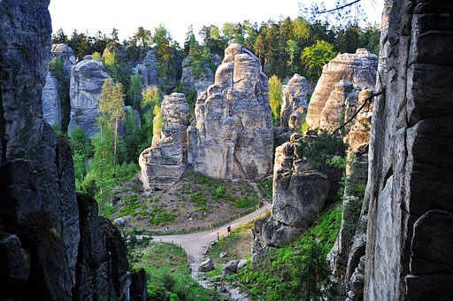 Czech Republic, Prachov Rocks, Rock City, Rocks, Nature