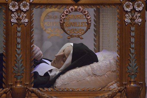 Socket, Coffin, Glass, Body, Bernadette, Sainte, Nevers
