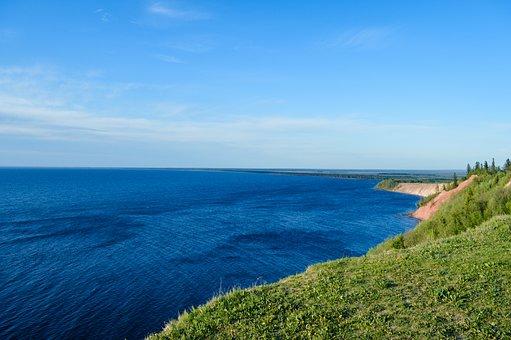 Sea, Cliff, Sky, Clouds, Horizon, Ocean, Water, Coast