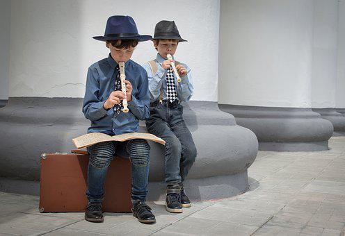 Musicians, Flute, Kids, Music, Play, Sheet Music, Boys