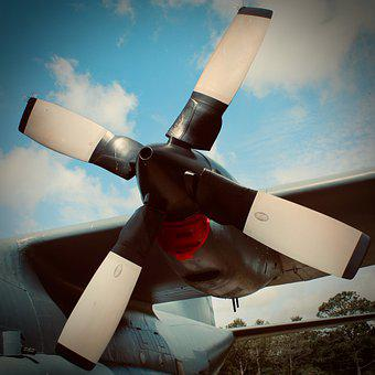 Airplane, Aircraft, Propeller, Prop, Spin, Military
