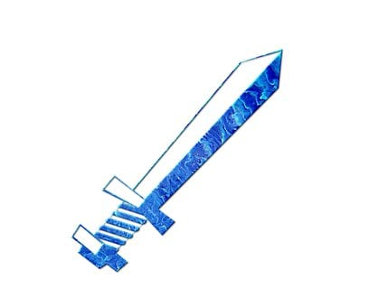Sword, Blade, Blue, Sharp, Weapon, Abstract, Clip Art