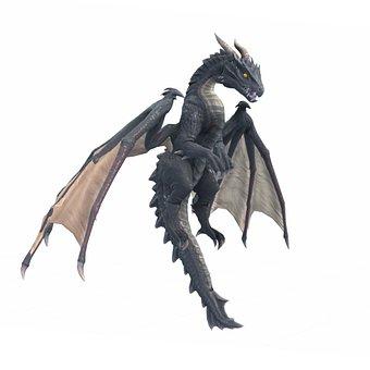 Dragon, Horns, Wings, Creature, War, Fantasy