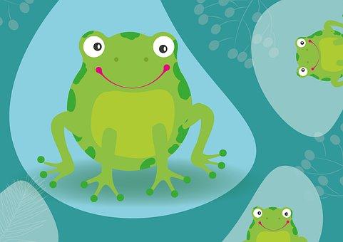 Frog, Cute, Animal, Figure, Funny, Kermit, Green