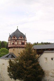 Castle, Burgk, Tower, Building, Knight, Landscape