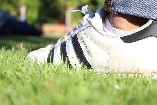 Shoe, Foot, Grass, Leather, Footwear, Feet, Clothing