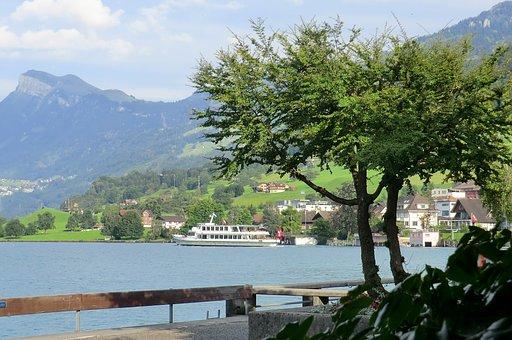Vierwoudenstedenmeer, Switzerland, More, Landscape