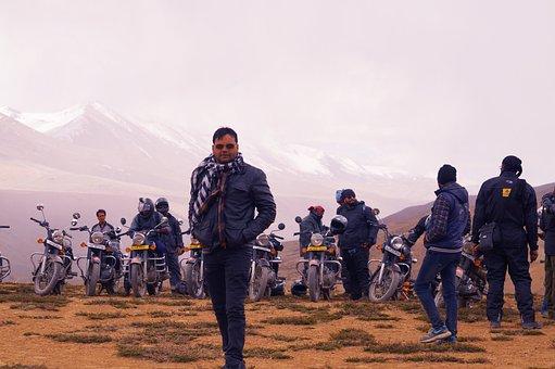 Ladakh, Road, Bullet, Hi, Riding, Himalaya, Leh, Manali