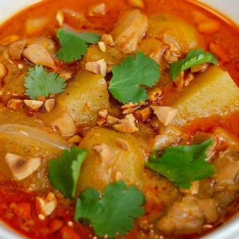 Thai, Curry, Massaman, Food, Massaman Curry, Bowl