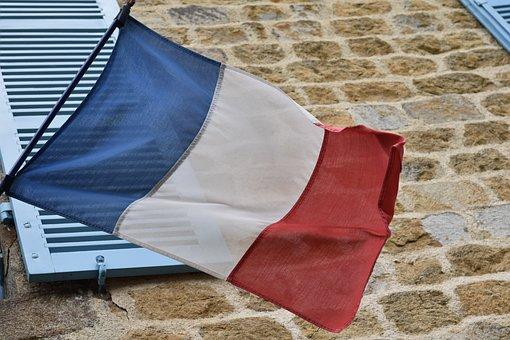 French Flag, Emblem, Symbol, Nation, National