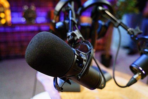 Microphone, Audio, Recording Studio, Podcast, Voice