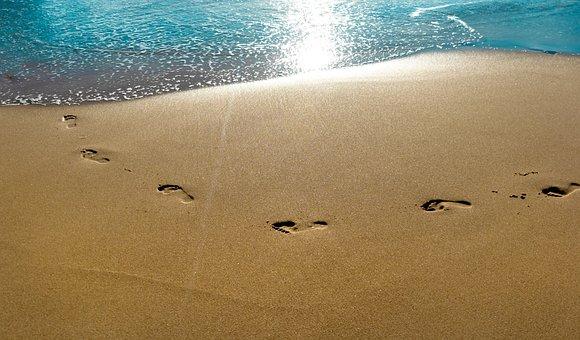 Sea, Sand, Seashore, Seascape, Island, Coastline, Steps