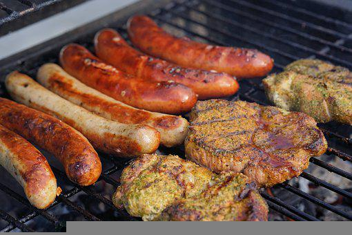 Sausages, Steaks, Grilling, Barbecue, Cooking, Grill