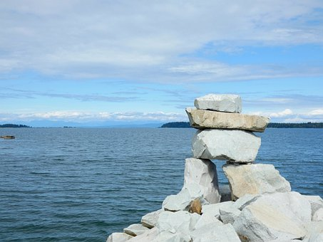 Breakwater, Inukshuk, Stones, Rocks, Nature, Symbol