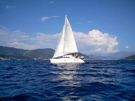 Sailboat, Boat, Sea, Summer, Boka, Adriatic
