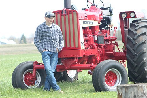 Tractor, Farmer, Country Boy, Agriculture, Man, Farm