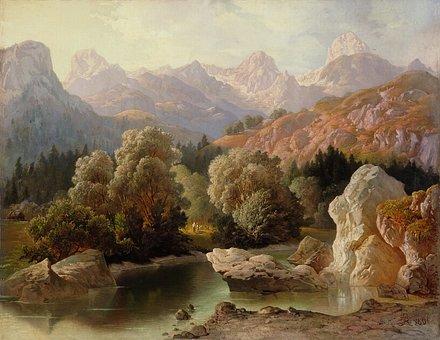 Anton Karinger, Art, Artistic, Painting, Oil On Canvas