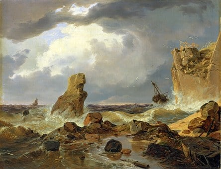 Andreas Achenbach, Painting, Art, Artistic, Artistry