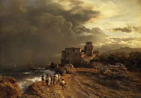 Oswald Achenbach, Painting, Art, Artistic, Artistry