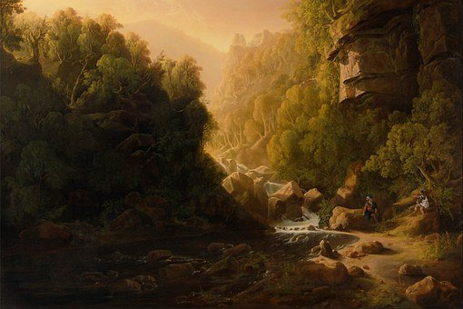 Francis Danby, Art, Artistic, Painting, Oil On Canvas