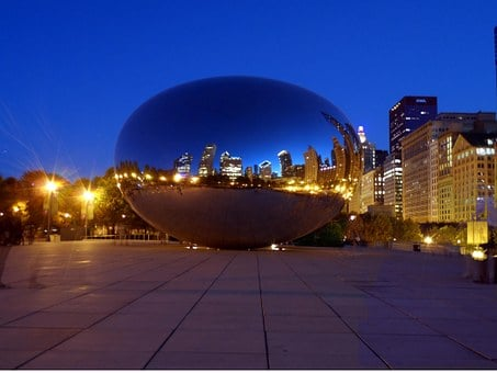 Chicago, Bean, Night, Skyline, Night Image, Skyscraper