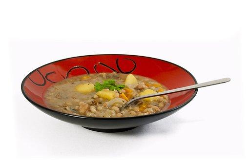 Soup, Stew, Plate, Bean Stew, Beans