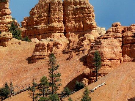 Usa, Cliff, Bryce Canyon, National Park, Panorama