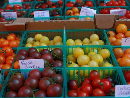 Cherry Tomato, Tomatoes In A Basket, Farmers Market