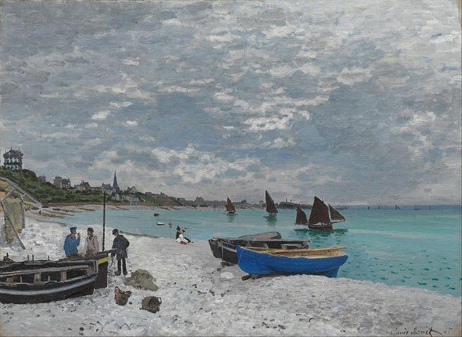 Claude Monet, Sky, Clouds, Boats, Ships, Sea, Ocean