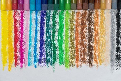 Color, Oil Pastels, Colorful, Color Spectrum, Paint