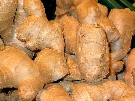 Ginger, Vegetables, Vegetable Market, Eat, Gourmet