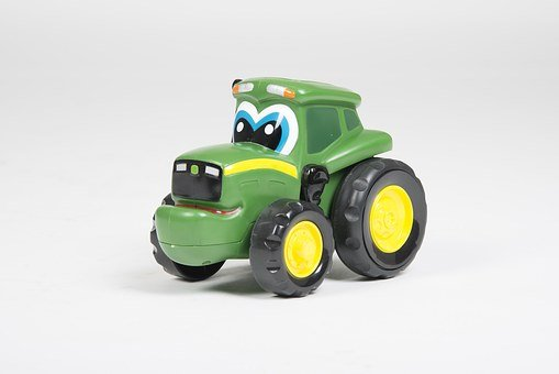Toy, Green, Children, Play, Tractor, Farmer