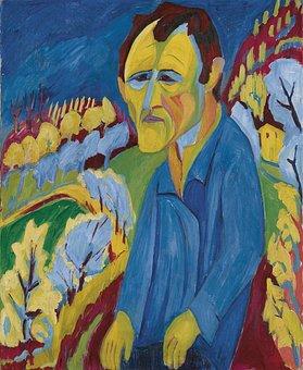 Hermann Scherer, Self-portrait, Man, Art, Artistic