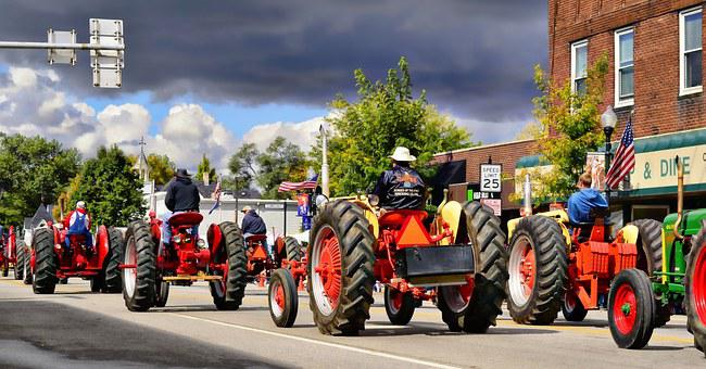 Indiana, Tractor, Parade, Farmer, Machinery
