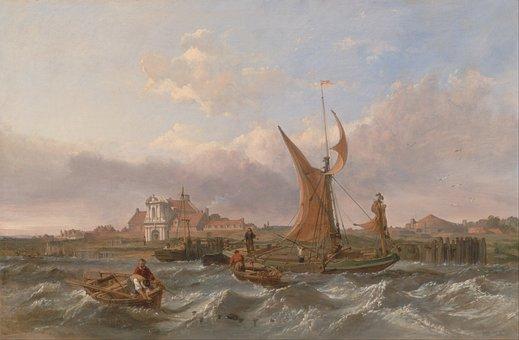 Clarkson Stanfield, Landscape, Art, Artistic, Painting