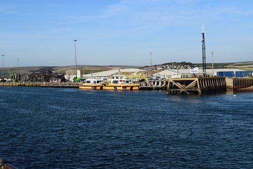 Newhaven, Sea, Sussex, Landscape, Harbour, Water, South