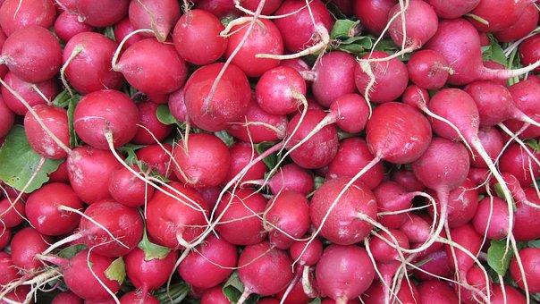 Radishes, Market, Food, Garden, Eat, Vegetables