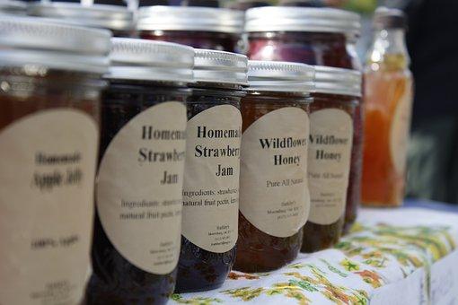 Jam, Jelly, Farmers Market, Homemade, Jar, Marmalade