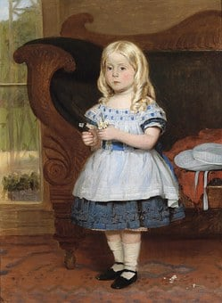 Monogrammist As, Girl, Child, Portrait, Painting
