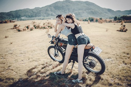 Girl, Scenery, Mountain, Bikefriends, Summer, Short