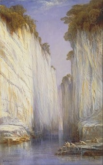 Edward Lear, Painting, Oil On Canvas, Artistic, Nature