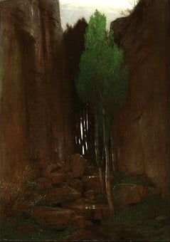 Arnold Bocklin, Painting, Art, Oil On Canvas, Nature