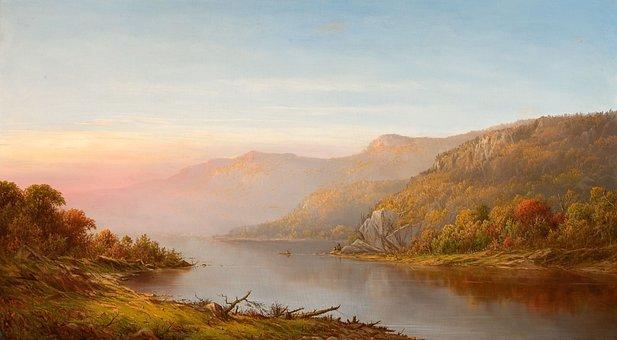 Charles Wilson, Hudson River, New York, Painting