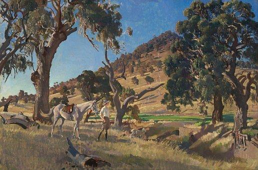 George Lambert, Painting, Art, Oil On Canvas, Artistic